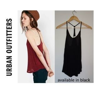 Urban Outfitters silence + noise Lina tank, black